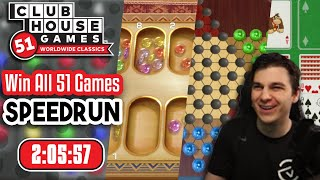 Win All 51 Games Speedrun in 2:05:57 | Clubhouse Games 51 WwC