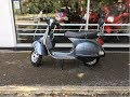 PIAGGIO VESPA PX 150 GREY TUBELESS RIMS START UP & REVIEW