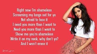 Baixar Camila Cabello - Shameless (Lyrics) 🎵