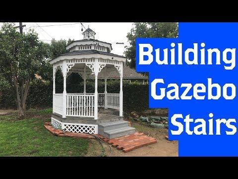 Building Gazebo Stairs