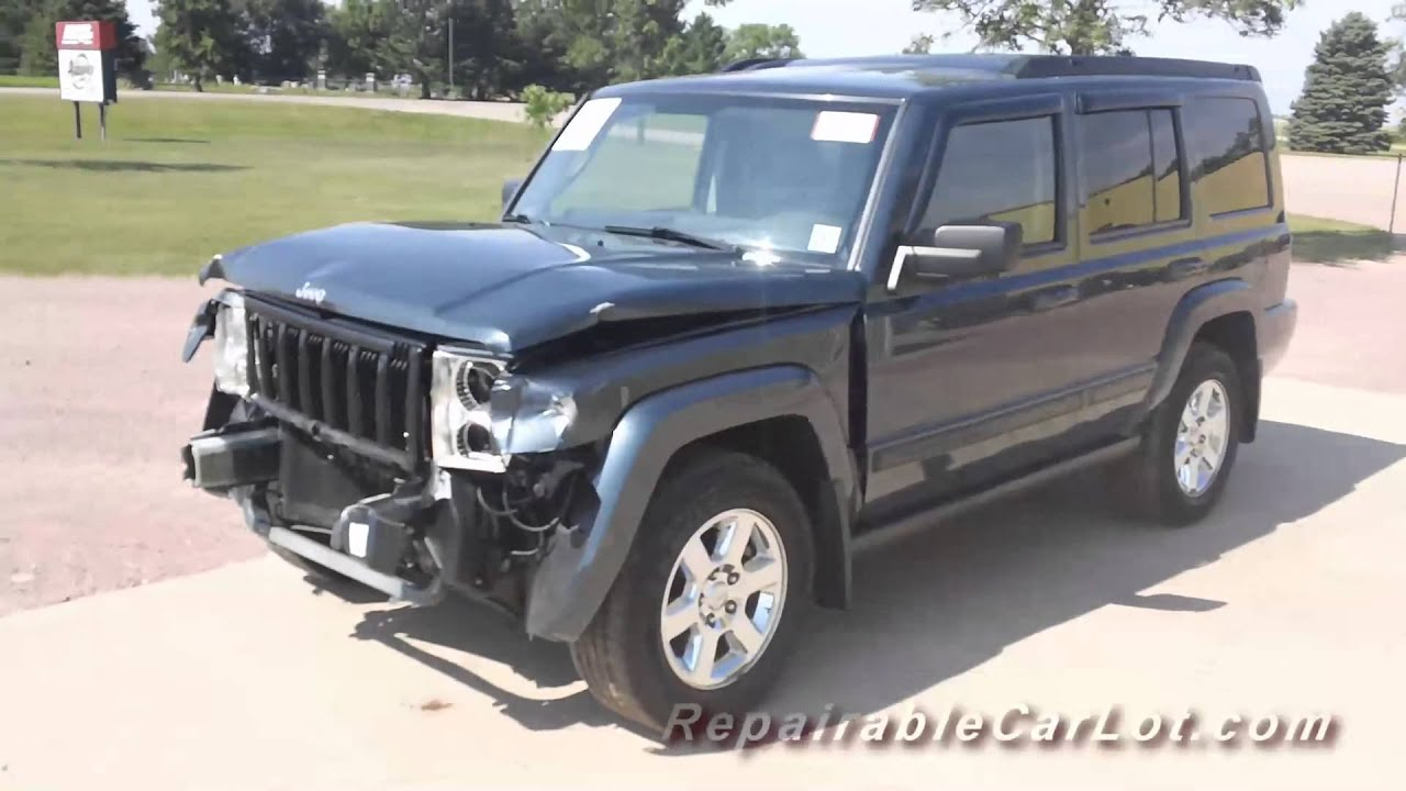 2007 jeep commander sport 4x4 - repairable vehicle autoplex, inc
