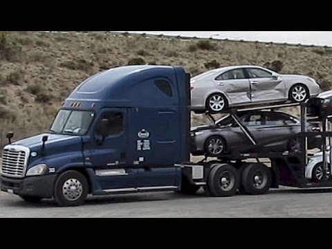OSSO CORP TRUCKING ~ LOS ANGELES CA ~ AUTO CARRIER TRUCK