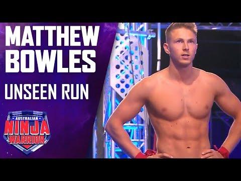 Matthew Bowles' unseen run   Australian Ninja Warrior 2019
