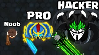 NOOB vs PRO vs HACKER in Warcall.io (NEW .IO GAME)