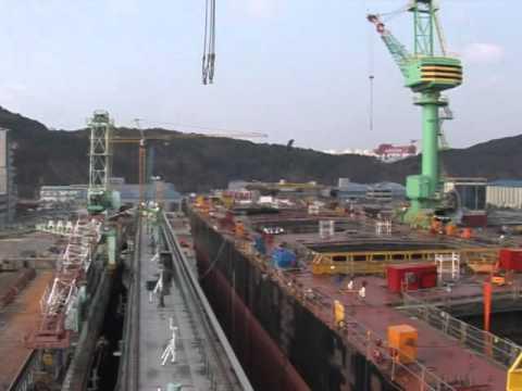 2009 02 20 Busan Shipyard Loadout 2
