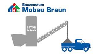Betontankstelle Bauzentrum Mobau Braun