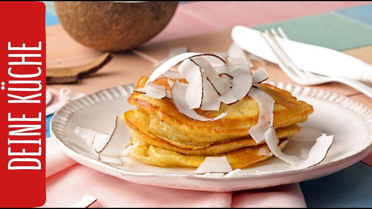 Vegane Bananen Pancakes Mit Frischer Kokosnuss Rewe Deine Kuche