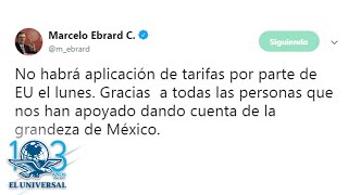 México y EU alcanzan acuerdo para suspender aranceles