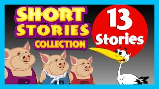 SHORT STORY for CHILDREN in ENGLISH (13 Moral Stories) | Three Little Pigs & more
