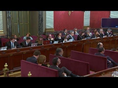 Juicio del 'procés'La sesión del  tribunal supremo  [En Directo] Pruebas Documentales