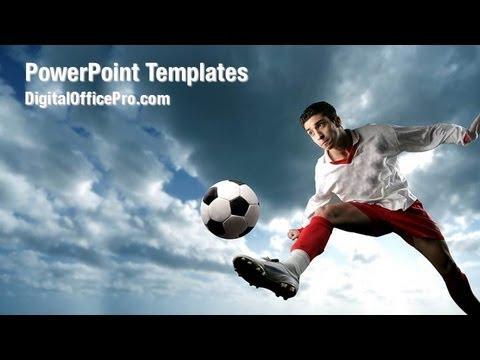 Soccer Player Powerpoint Template Backgrounds Digitalofficepro