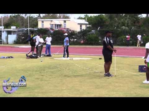 Shot Put At IAAF World Athletics Day National Sports Centre Bermuda May 21 2011