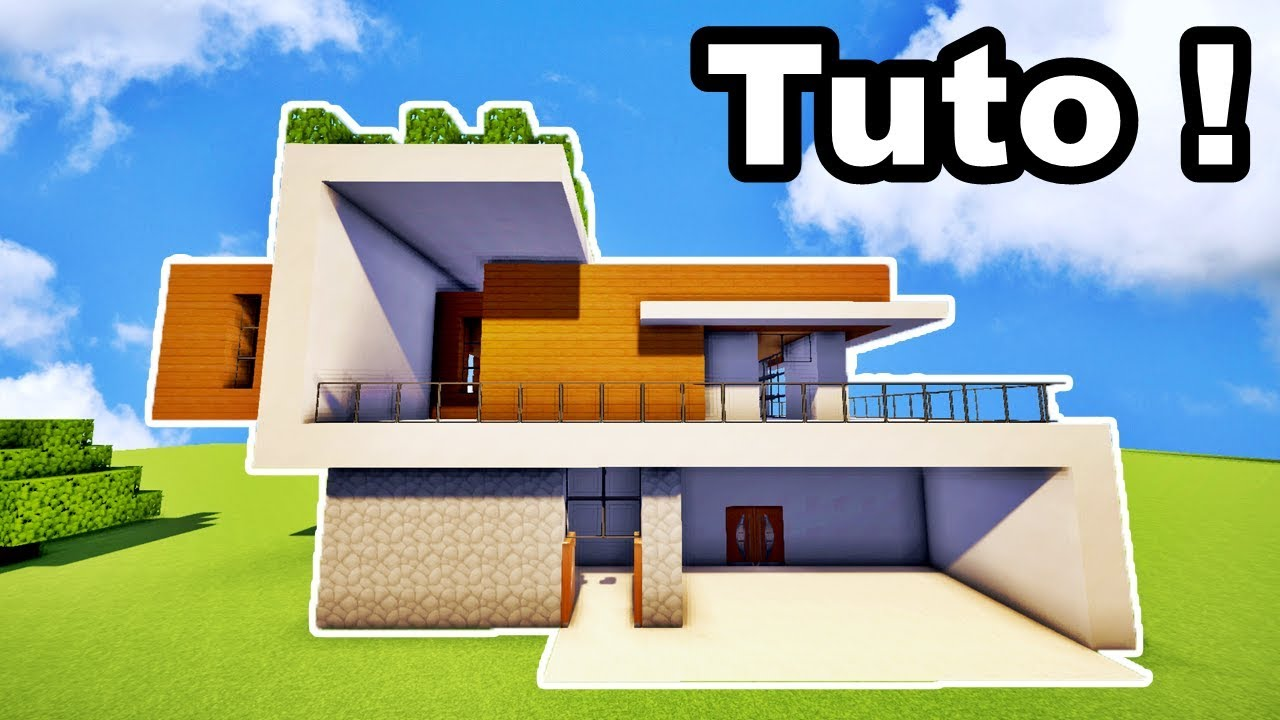 Tuto belle maison moderne 19x26 sur minecraft youtube for Maison moderne minecraft tuto