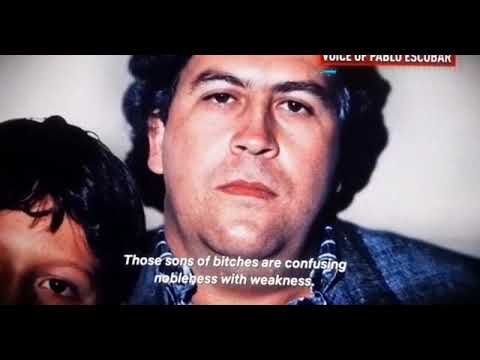 Real voice of Pablo Escobar (at time of death) - YouTube