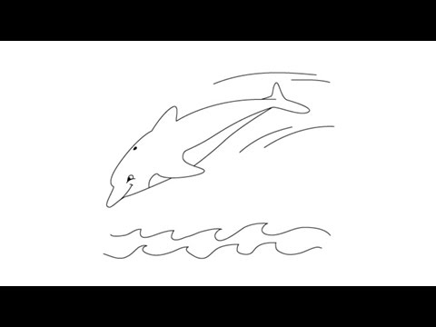 How to draw a dolphin easy step by step drawing lessons for kids