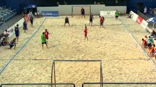 España - Rusia. Semifinal. Europeo Beach Handball UMAG (Croatia) 2011