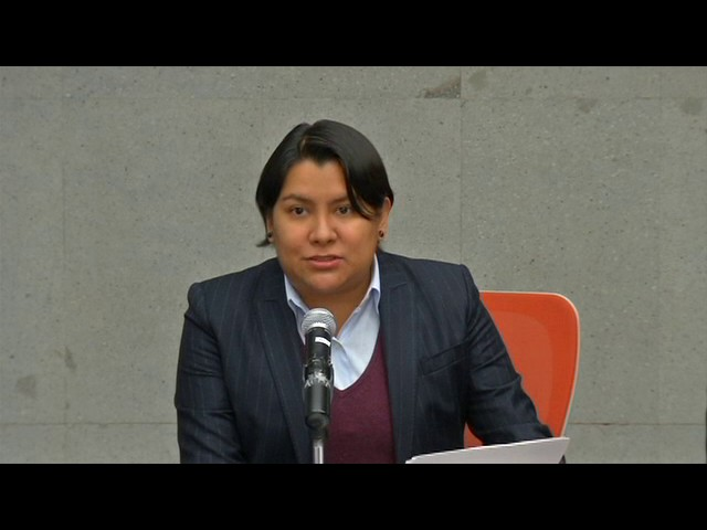 Palabras de la Dra. Perla Gómez Gallardo durante la presentación de la Recomendación 16/2016