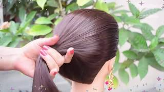 Easy and amazing juda hairstyle with bun stick    Bunstick Bun Hairstyles For New Year 2019