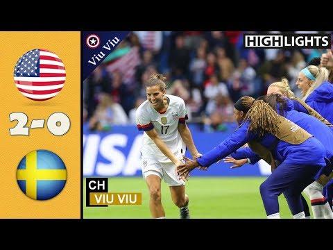 USA vs Sweden 2-0 All Goals & Highlights   2019 WWC