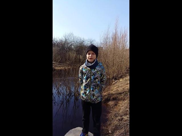 Изображение предпросмотра прочтения – НикитаКузьмин читает произведение «Весенние воды (Еще вполях белеет снег…)» Ф.И.Тютчева