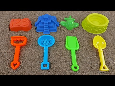 WAVE A MAGIC WAND AND SURPRISE EGGS GOT INTO SAND MOLDS! LEARN COLORS AND NUMBERS IN SAND PLAY