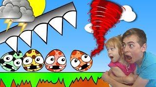 - РАЗБИВАЕМ ЯЙЦА ТОРНАДО и ЗЕМЛЕТРЯСЕНИЕ видео игра для детей на канале GAMES FACTORY