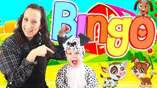 BINGO Song For Kids With Lyrics | Nursery Rhymes & Kids Song With Marley