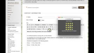 إنشاء محتوى باستخدام محرر HTML في BB