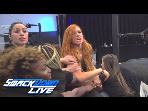 Charlotte Flair and Becky Lynch brawl at WWE Performance Center: SmackDown LIVE, Oct. 23, 2018