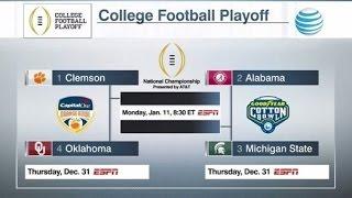 College football Playoff - Clemson, Alabama, Michigan State and Oklahoma
