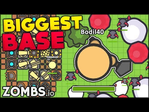 BRAND NEW IO GAME ⭐ THE BIGGEST AND BEST DEFENSE AGAINST ZOMBIES | Zombs.io (like MooMoo.io)