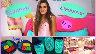 Summer Sleepover Ep. 2 - My Period, DIY Glow Jars & Lego Brownies! Thumbnail