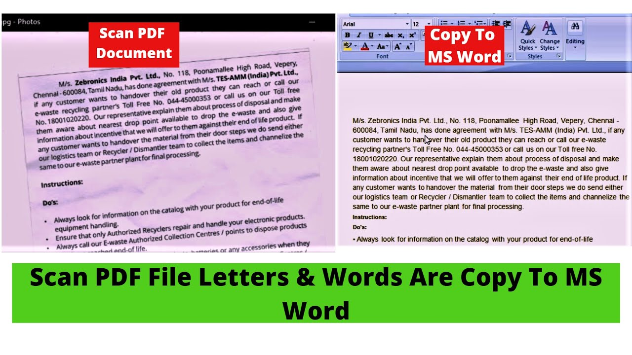 how to edit a scanned file in word