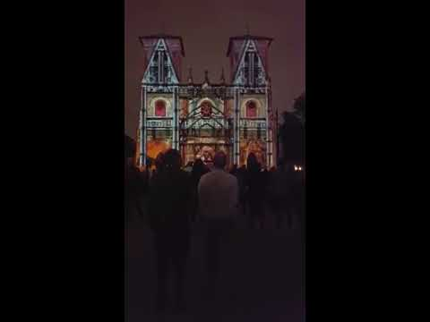 Laser Show at San Fernando Cathedral in San Antonio