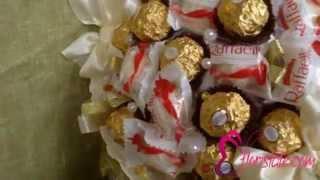 Букет из Ферреро Роше и Рафаэлло KF-15(http://www.floristale.com/catalog/buket-iz-ferrero-roshe-i-raffaello-kf-15.html Отличный букет на день рождения, юбилей, годовщину свадьбы..., 2015-12-02T23:23:33.000Z)