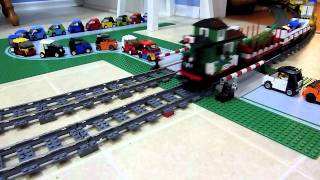 LEGO Thomas the Tank Engine pulls a very long freight train