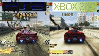 Burnout Revenge | PS2 VS 360 | Graphics Comparison | Comparativa
