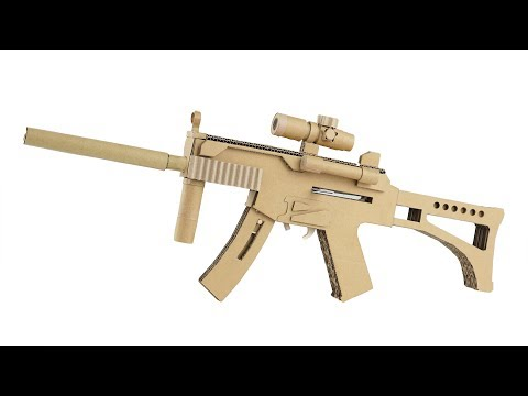 How To Make Cardboard Gun | Amazing MP5 That Shoots
