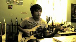 avenged sevenfold victim solo 1st 2nd guitar cover
