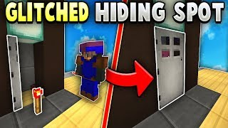 GLITCHING into UNHITTABLE Bedwars Hiding Spot!