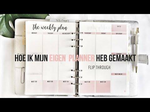 DIY Eigen Agenda Maken/ Samenstellen. Hoe Heb Ik Dit Aangepakt?  | Felia Goovaerts