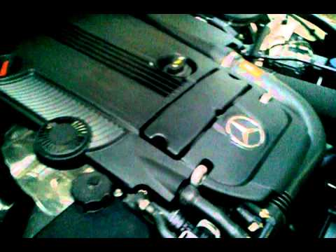 Mercedes Benz W204 C200 cgi engine revving sound