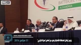 مصر العربية | رئيس أركان المنطقة الشمالية يضع حجر أساس