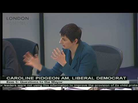 Caroline Pidgeon pushes the Mayor to improve the Met's record on child protection