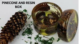 Pinecone and epoxy Resin box