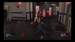 WWE 2K19 Shao Kahn VS Donald Trump Backstage Brawl