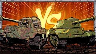German vs Soviet Tanks | Animated History