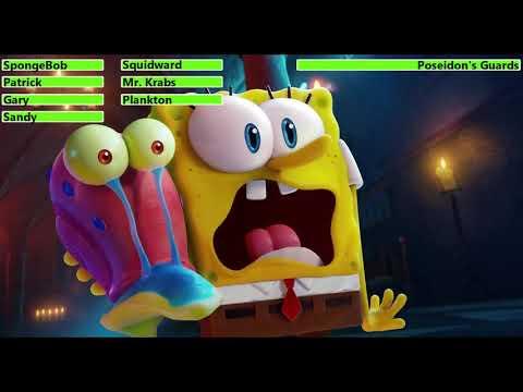 Download The SpongeBob Movie: Sponge on the Run (2021) Final Battle with healthbars
