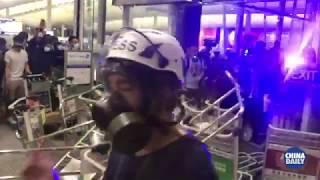 Anti-government protests crippled Hong Kong International Airport