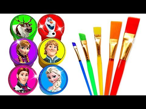 Glitter Drawing & Coloring with Disney's Frozen Characters for Kids